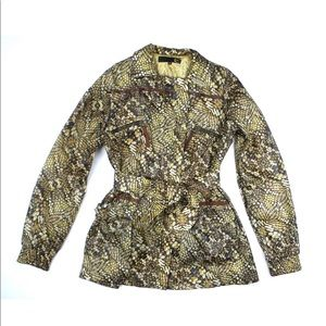 Roberto Cavelli Just Cavalli Animal Print Raincoat